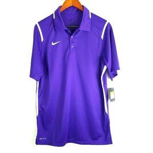Nike Mens Dri Fit Gameday Polo Shirt Purple 658085